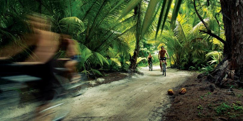 Bike tour in the jungle of the Seychelles
