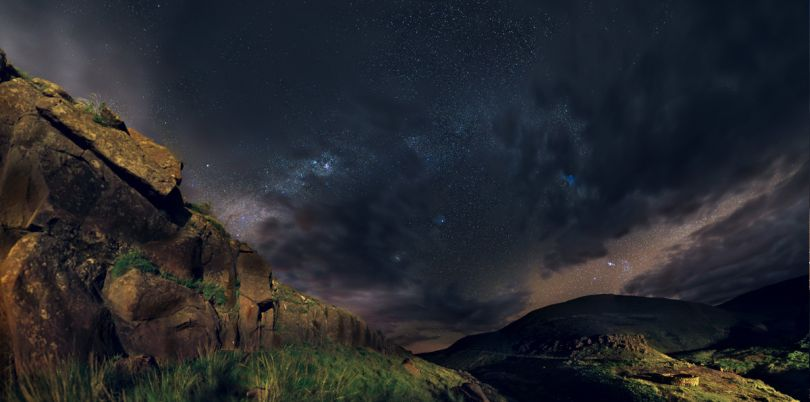 Landscape at night time in South Africa