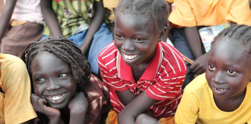 Children learning at school in South Sudan