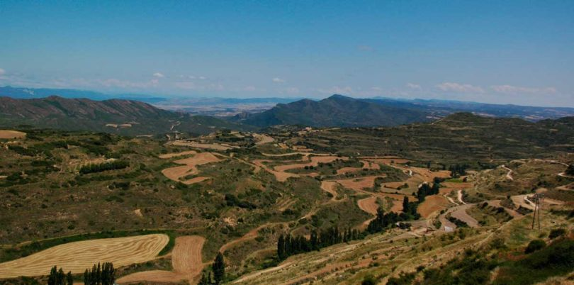 Andalucian hilly landscape Spain