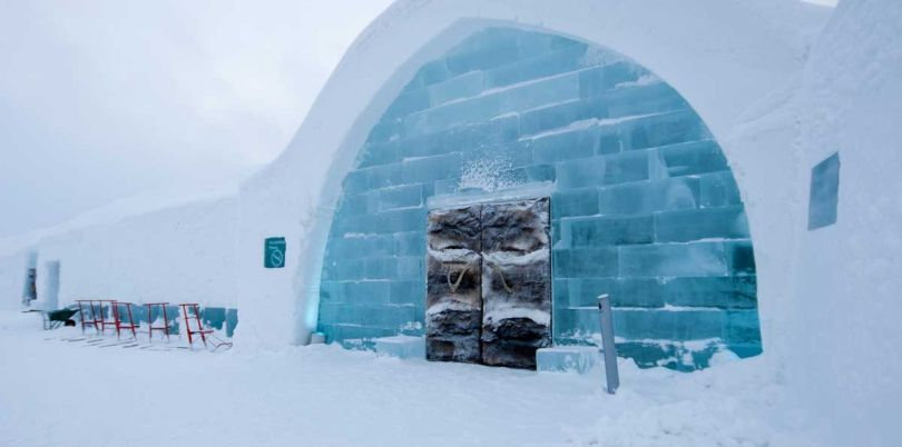 Ice Hotel front door