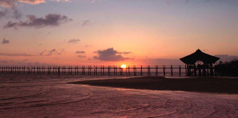 Sunset at Fundu lagoon in Zanzibar Tanzania