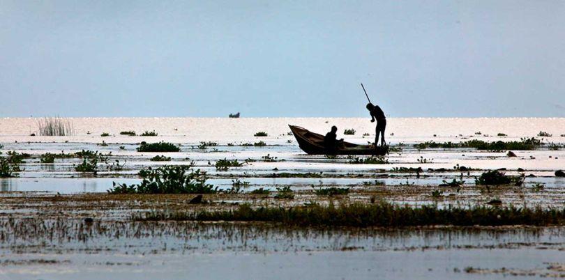 Two fishermen in Uganda