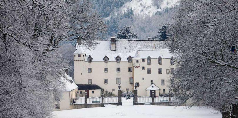 House in snow, UK