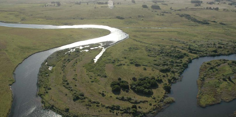 View on river meander in Uruguay